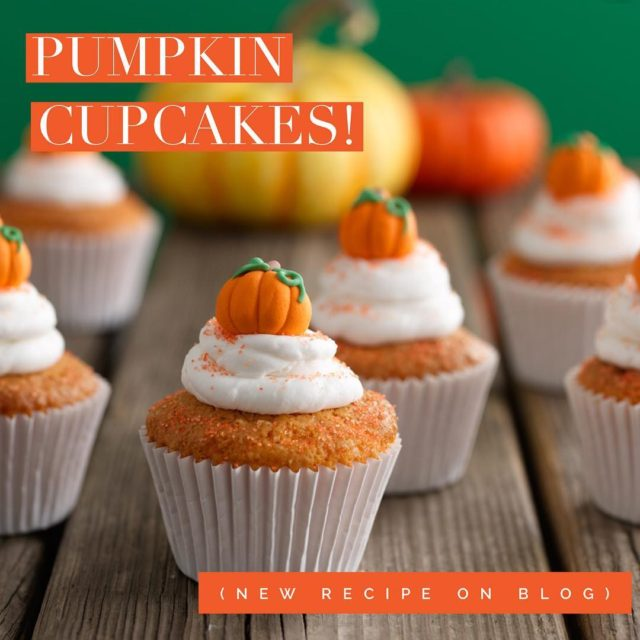 New recipe posted! Yummy pumpkin cupcakes with cream cheese frostinghellip